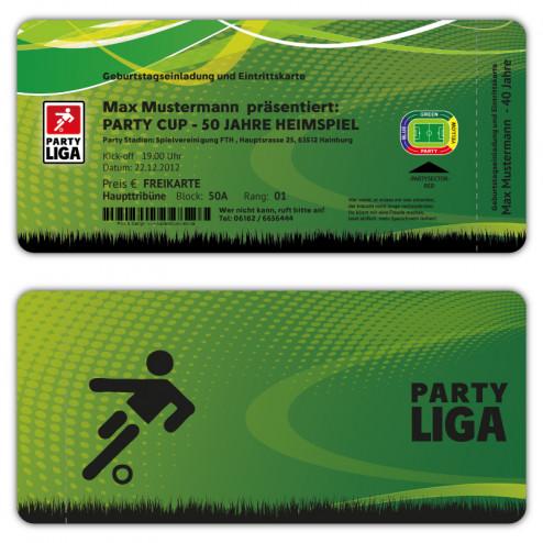 Einladungskarten als Fußball Ticket