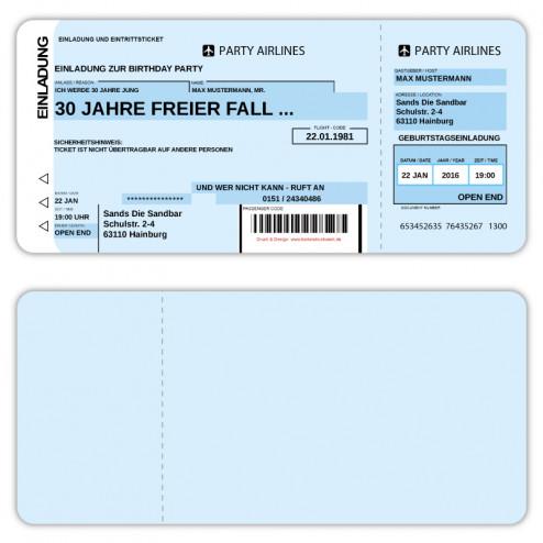 Flugticket-Geburtstagseinladung-online-personalisiert-mit-Bild