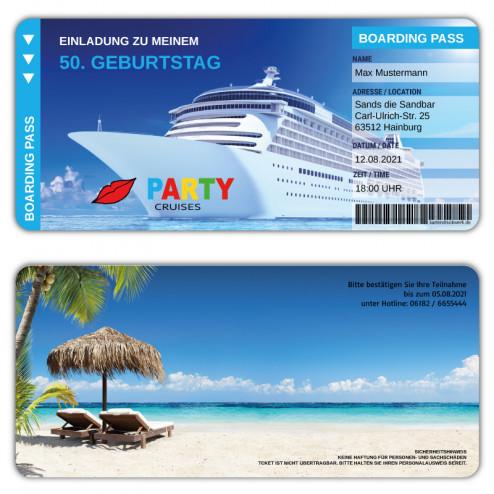 Kreuzfahrt Einladungskarte Geburtstag Party Cruises
