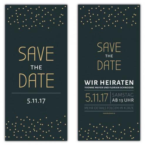 Save the Date Karten Stars mit Punkten