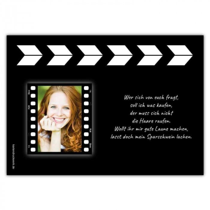 Einladungskarten Regieklappe Filmklappe Hollywood Film ...