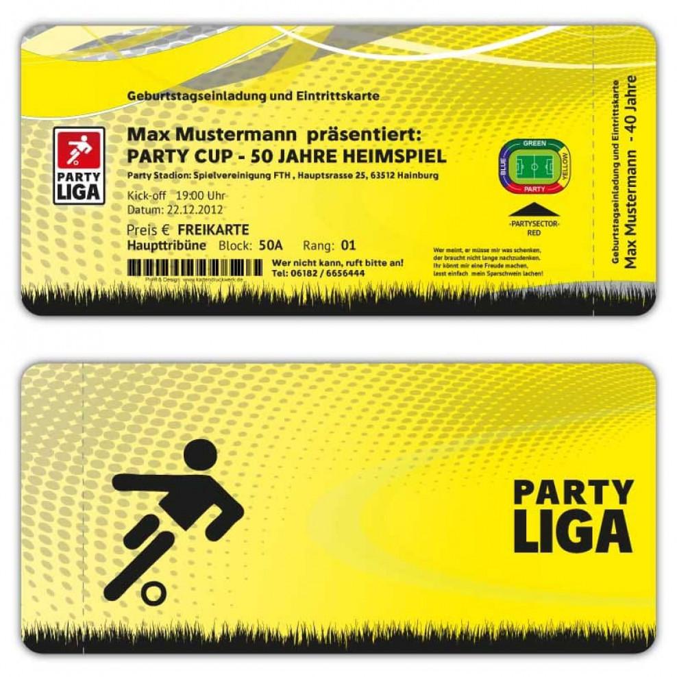 einladungskarten fussball ticket eintrittskarte