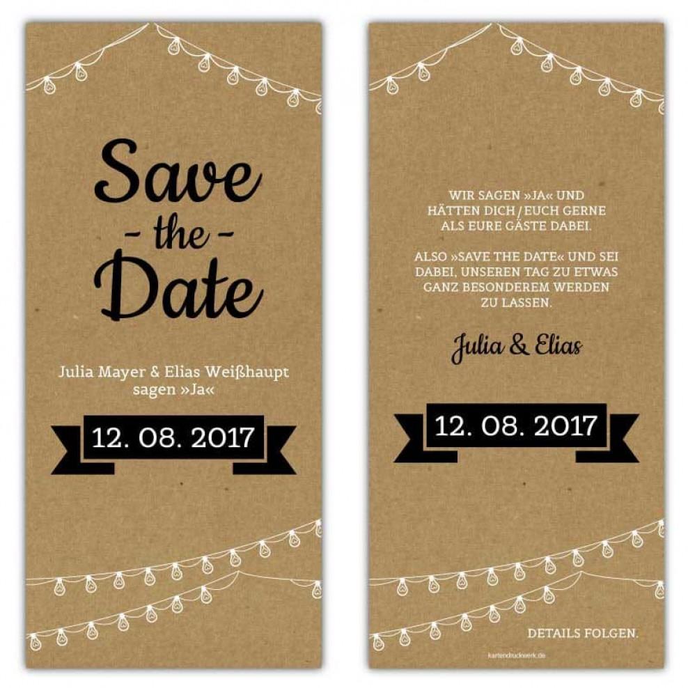 Save The Date Karten Vintage.Save The Date Karten Vintage Kraftpapier Optik