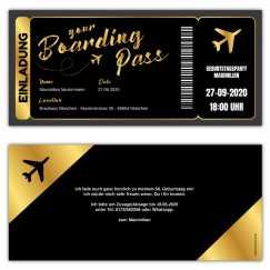 Einladung Boarding Pass Flugticket