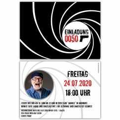 Einladungskarte Geheimagent 007
