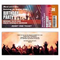 Geburtstagseinladung Konzertticket