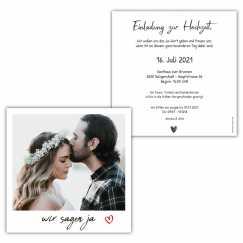Hochzeitseinladung Polaroid