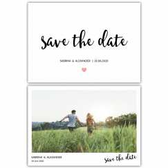 Save the Date Postkarten Kalligraphie