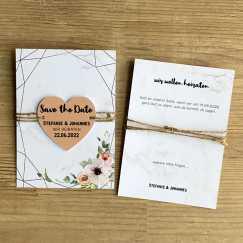 Save the Date Karte Hochzeit mit Herz