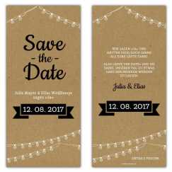 Save the Date Karten Vintage Kraftpapier Optik