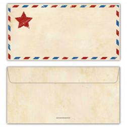 Briefumschläge Vintage mit Stern