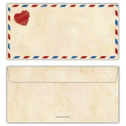 Briefumschläge Vintage mit Herz