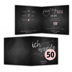 Einladung 50. Geburtstag