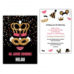 Einladung Faschingsparty Karnevalsparty