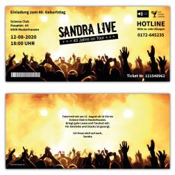Einladungskarte als Festival Ticket