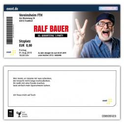 Einladungskarte als Konzertkarte mit Foto