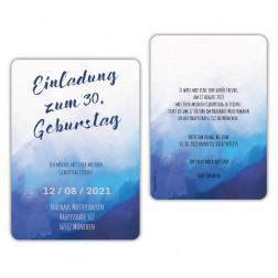 Einladungskarten 30 Geburtstag Wasserfarben