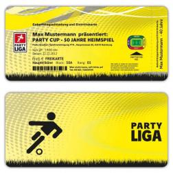Einladungskarten zum Geburtstag als Fussball Ticket Eintrittskarte