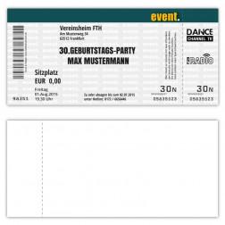 Einladungskarte zum Geburtstag als Eintrittskarte Ticket Konzertkarte Partyticket