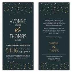 Einladungskarten zur Hochzeit Stars