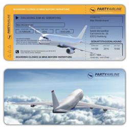 Einladungskarten Boarding Pass Flugticket
