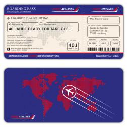 Boarding Pass Einladungskarte