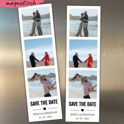 Save the Date Fotostreifen Magnet