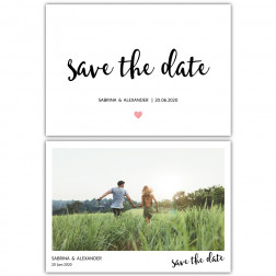 Save the Date Postkarten Kalligraphie