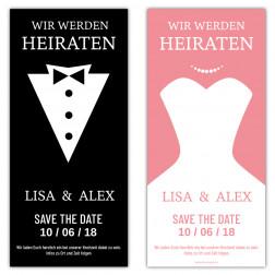 Save the Date Karten Braut und Bräutigam