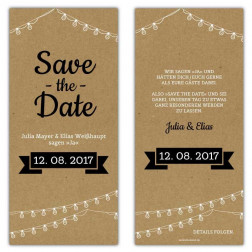 Save the Date Karten Vintage Kraftpapier Optik