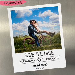 Save the Date Magnet Polaroid