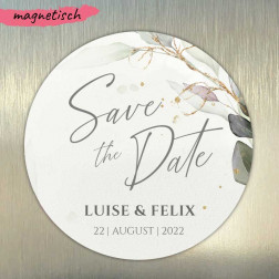 Save the Date Magnet rund