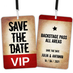 Save the Date VIP Backstage Pass