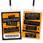 Backstage-Pass-Einladungskarte-Geburtstag-VIP-orange