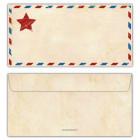 Briefumschlag-Vintage-mit-Stern-für-Einladungskarte-Einladung-Ticket-Eintritskarte-rot-blau