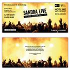 Einladungskarte-40.-Geburtstag-Festival-Ticket-Party-People-gelb