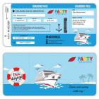 Einladungskarte-Schiff-Kreutzfahrt-Ticket-Bordkarte-Party-Cruises-Boarding-Pass