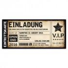 Einladungskarten Einladungskarte Geburtstag als Ticket Eintrittskarte Einladung Karte Vintage VIP mit Stern