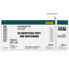 Einladungskarte zum Geburtstag als Eintrittskarte, Ticket, Konzertkarte, Partyticket  perforation