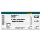 Einladungskarte zum Geburtstag als Eintrittskarte, Ticket, Konzertkarte, Partyticket