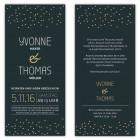 Hochzeitseinladungskarten Stars mit Punkten modern und günstig