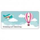 Einladungskarten-Kindergeburtstag-als-Flugticket-Boarding-Pass-mit-Foto-und-Flugzeug