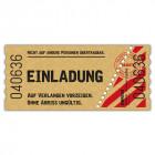 Einladungskarten-Kinokarte-Kinoticket-Kinoeintrittskare-Vintage-gestanzt