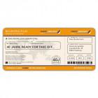Einladungskarten Flugticket  Geburtstag  Ticket  Einladung  Karte Boarding Pass orange