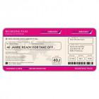 Einladungskarten Flugticket  Geburtstag  Ticket  Einladung  Karte Boarding Pass pink
