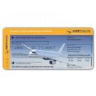 Einladungskarten Flugticket  Geburtstag  Ticket  Einladung  Karte mit Perforation