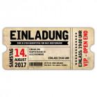 Geburtstagseinladung-Vintage-Ticket-Eintrittskarte-VIP-gestanzt