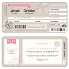 Hochzeitseinladung Flugticket Boarding Pass selbst gestalten