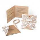 Hochzeitseinladung-Lasercut-Kraftpapier-Optik-mit-Spitze